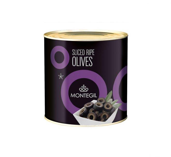 Lata sliced ripe olives Montegil