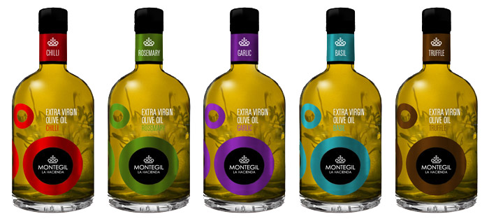 Diseño de packaging línea de aceites aromáticos Montegil