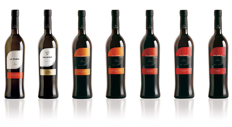 Packaging vinos de Jerez Valdivia