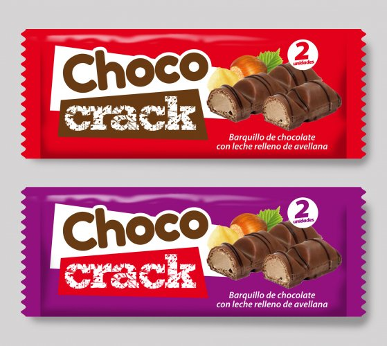 Barritas de chocolate ChocoCrack