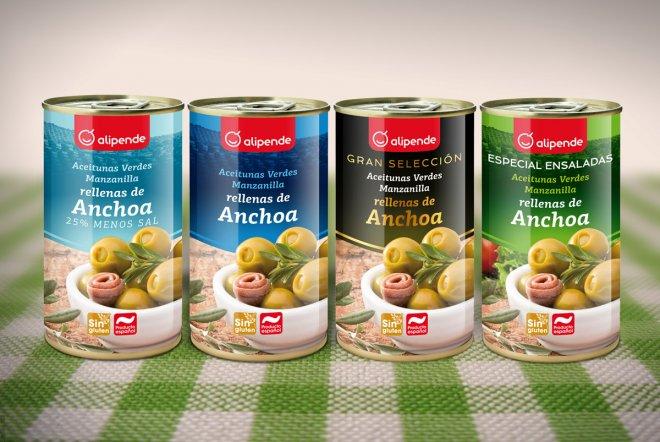 Packaging colección aceitunas Alipende