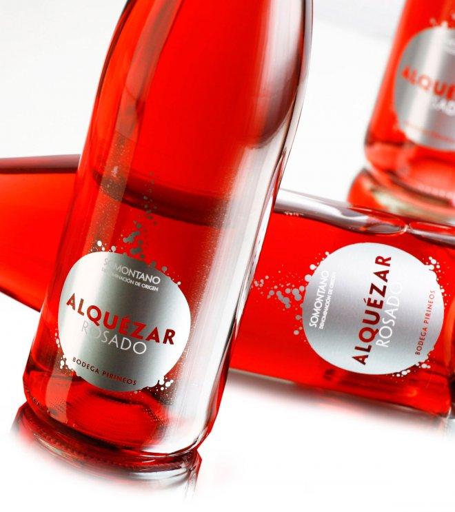 Branding y Packaging para vino rosado Alquézar
