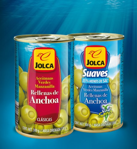 Cans stuffed with anchovy Jolca