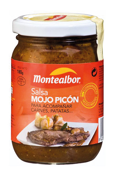 Diseño de packaging salsas Montealbor