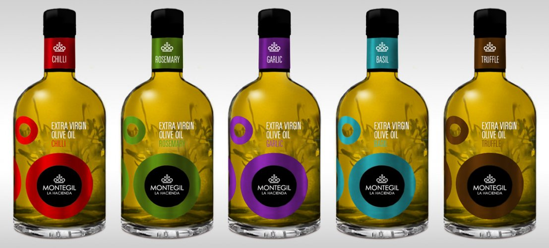 Line of flavored olive oils Montegil