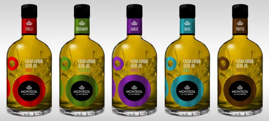 Línea de aceites de oliva aromatizados Montegil