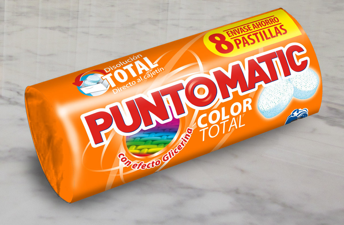 Flowpack pastillas color total Puntomatic