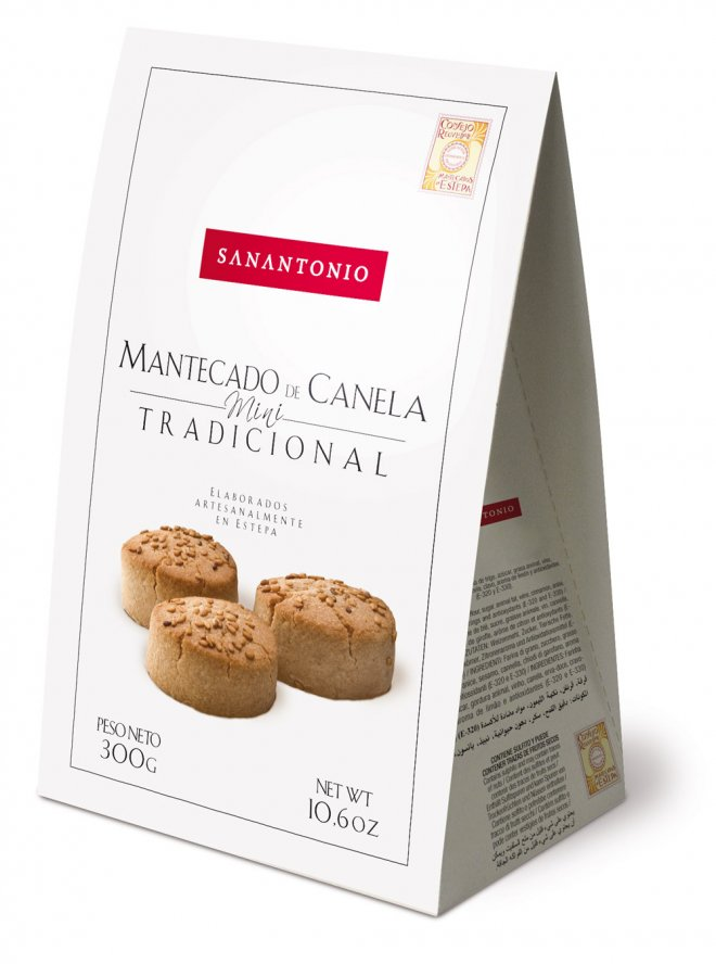 Packaging Mantecado de canela tradicional mini San Antonio