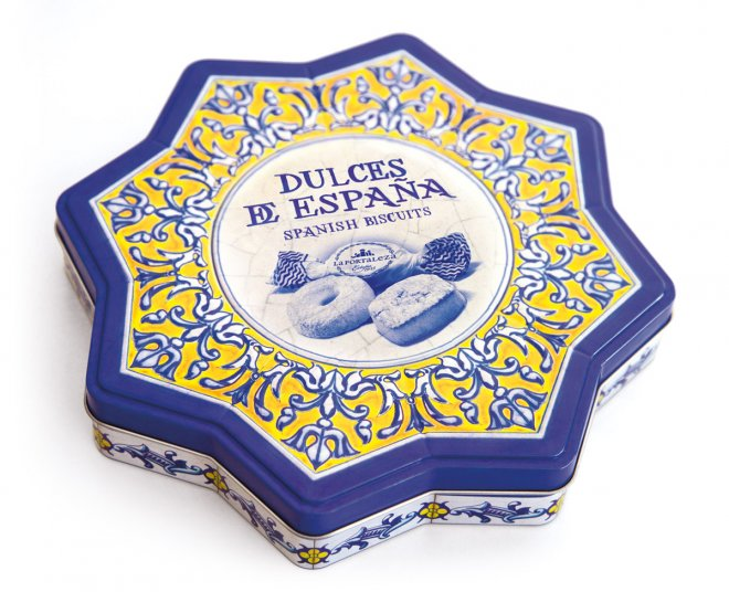 Diseño latas especiales azulejo Plaza de España
