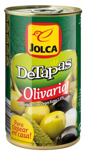 Diseño de branding y packaging Detapas Olivaria Lata