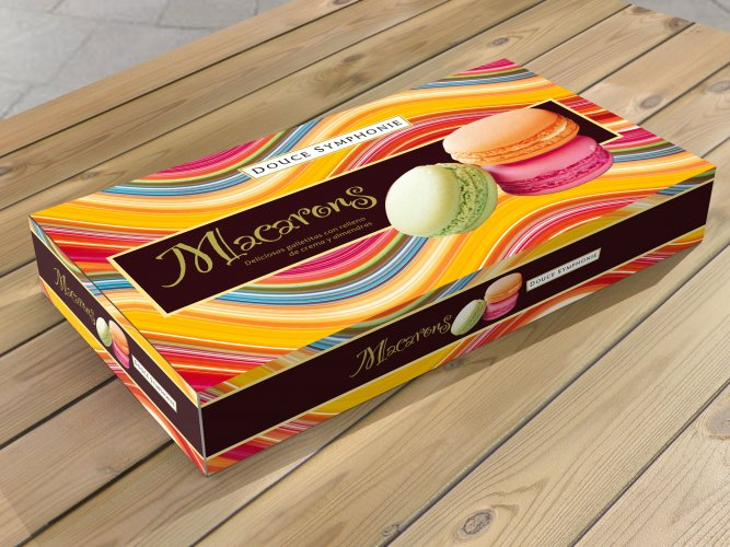 packaging of macarons