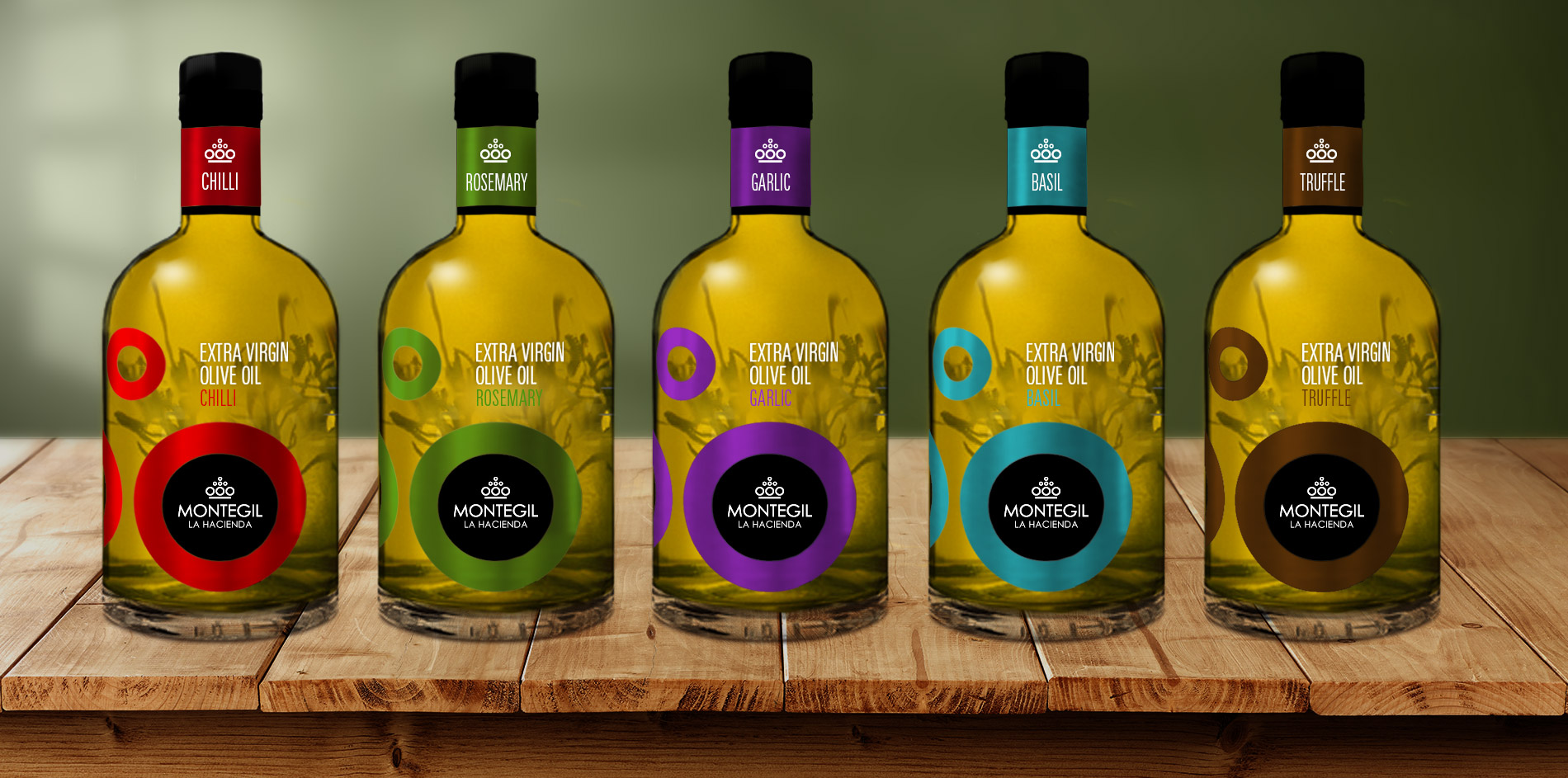 Línea gourmet de aceites aromáticos Montegil