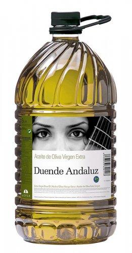 Etiqueta aceite de oliva virgen extraDuende Andaluz