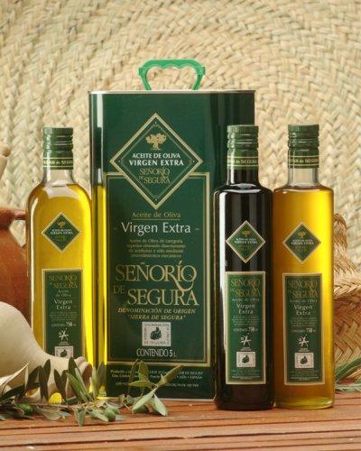 Bodegón aceite de oliva virgen extra Señorío de Segura