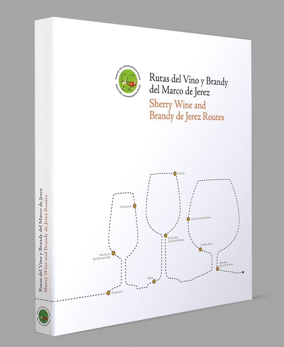 """Diseño del libro """"Rutas del Vino y Brandy del Marco de Jerez"""""""
